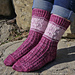 Tulip Rows Socks pattern