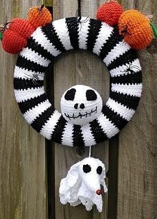 Nightmare Before Christmas Crochet Blanket.Nightmare Before Christmas Style Wreath Pattern By Flo S Crafty Crochet
