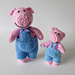 Pop and Pip Pigs pattern