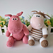 Chutney Cow and Pickles Pig pattern
