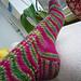 Italien - Multicolor-Socken Pfauenschweifmuster pattern