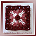 Intricate Lacy Crimson Square pattern