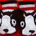 Boston Terrier Baby Booties pattern