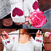 """""""Be My Valentine"""" Flirty Fingerless Gloves with Vday Messages in Girls and Adult Sizes pattern"""