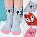 Pawsome Pals Koala, Fox, and Pig Animal Socks pattern