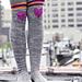 """""""Roller Girl"""" Heart Knee Patch Striped Socks pattern"""