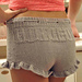 """Gorgeous Shorties"" Ruffle Shorts with Drawstring pattern"