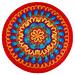 Fire and Ice Mandala pattern