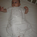 Offset Shell Christening Gown Set pattern
