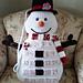 Snowman Countdown Pillow pattern