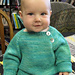 #1210 Button Front Baby Pullover pattern