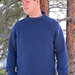 #1110 Bulky Top Down Pullover for Men pattern