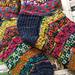 Scrappy Block Socks pattern