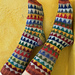 Triangle Scrappy Socks pattern