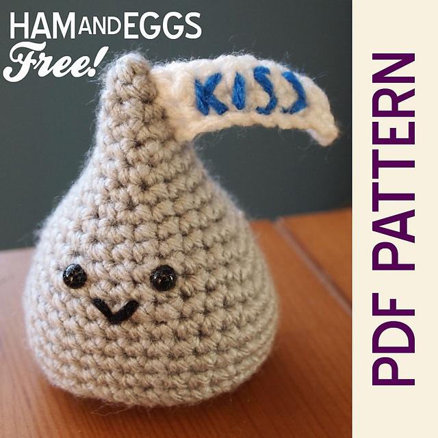 FREE #crochet pattern \ Hershey's Kiss on @ravelry