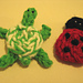 Turtle and Ladybug Fridgies pattern
