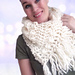 Scarf with bubbles and fringes pattern