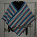 Bargello Victorian Step Poncho pattern