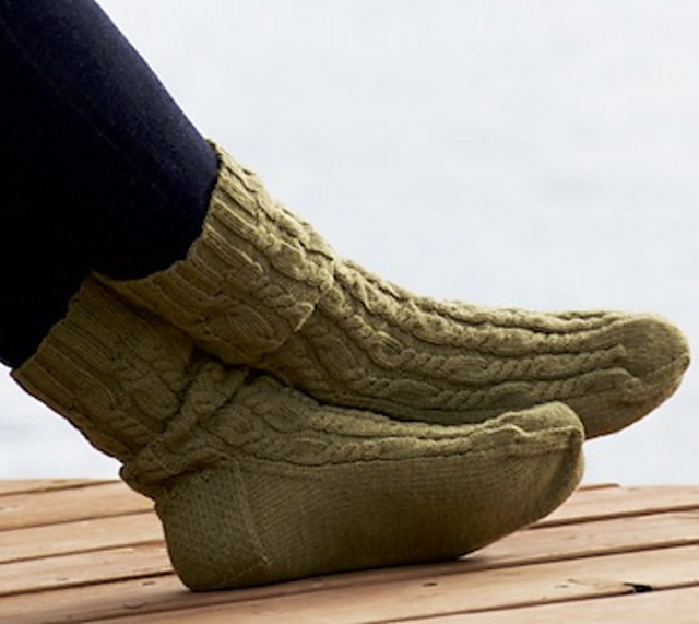 Alternate Twist Slippers by Judy M. Ellis, Handiwords Ltd LLC