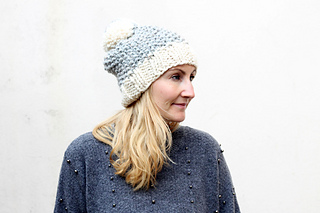 Chunky Moss Stitch Hat pattern by Louise Bollanos - Ravelry