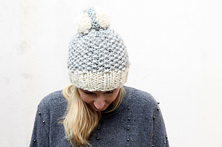 Ravelry: Chunky Moss Stitch Hat pattern by Louise Bollanos