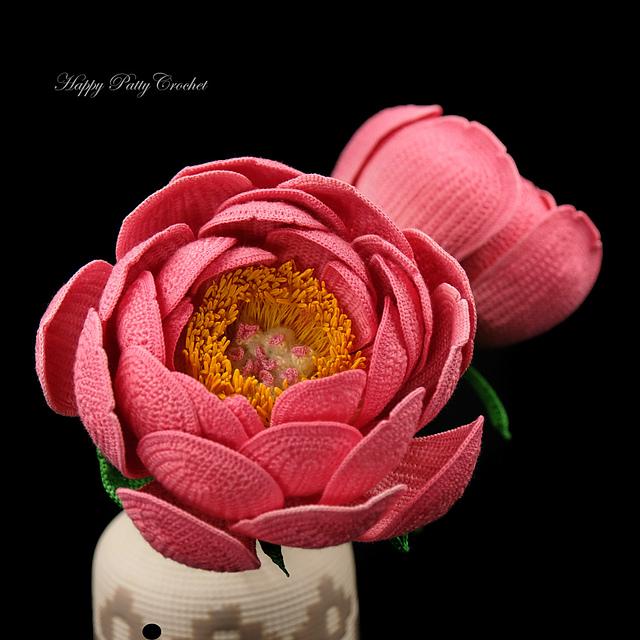 Ravelry Peony Flower Pattern By Happy Patty Crochet