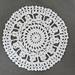 Flower clock doily pattern