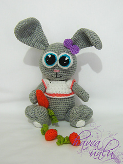 Crochet Big Flappy Ear Bunny Amigurumi Free Pattern | 320x240