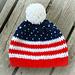 American Flag (USA)  Hat pattern