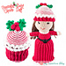 Peppermint Swirl Cupcake Doll pattern