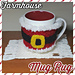 Farmhouse Mug Rug pattern