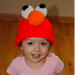 Elmo Hat (with alterations for cookie monster) pattern