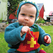 Child´s sweater and bonnet pattern