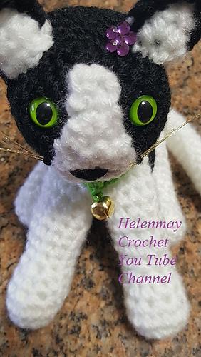 Amigurumi Cheeky Kitty Cat Free Crochet Pattern - Cool Creativities | 500x282