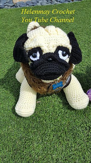Mini Amigurumi Pug Free Crochet Pattern | Amigurumi pattern ... | 640x360