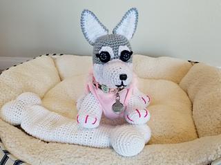 Crochet Large Amigurumi Siberian Husky Dog Part 1 of 4 DIY Video ... | 240x320
