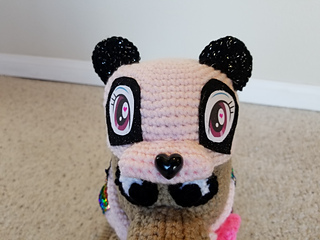 Crochet Small Panda Pet Outfit