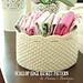 Scallop Edge Crochet Basket pattern