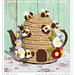 bee skep beehive tea cosy pattern