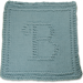 Monogrammed Dishcloth Letter B pattern