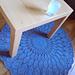 Modèle tapis en rosace au crochet pattern