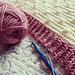 Knit-Look Bobble Blanket pattern