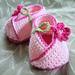 Kimono Flower Crocheted Baby Shoes pattern