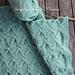 Aran Green Cables Blanket pattern