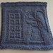 Doctor Who The Angels Have the Blue Box Dishcloth pattern