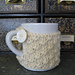Diagonal Mock Cable Mug Cozy pattern