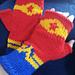 Wonder Woman Inspired Fingerless Gloves pattern