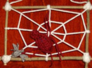 spiderweb closeup