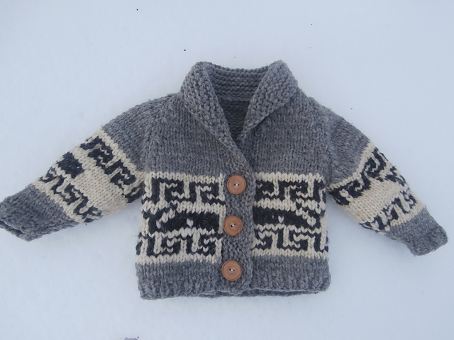 Ravelry: Northern Whale Cowichan Sweater Toddler's Cardigan