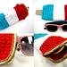 Bomb Pop Glasses Case pattern